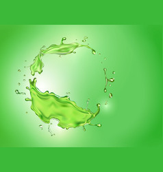 lime juice splash green background mojito drink vector image