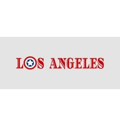Los Angeles city name with flag colors vector image