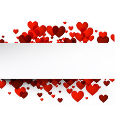 love valentines background with hearts vector image