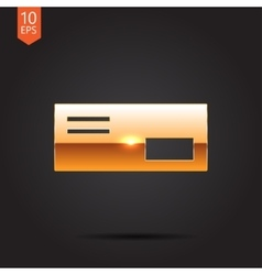 mail icon Epsgold0 vector image