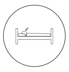 Man sleeping icon black color in circle vector