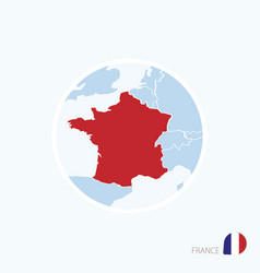 Map icon france blue map europe vector