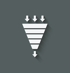 marketing funnel symbol vector image