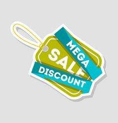 Mega discount sale isolated badge vector