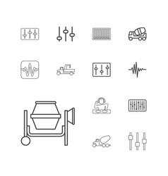 Mixer icons vector
