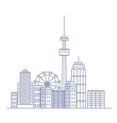 Modern city landscape cityscape buildings vector