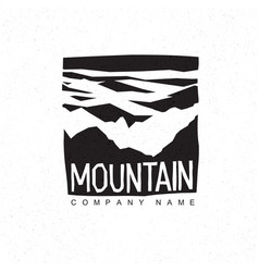 mountains logo template with abstract peaks vector image