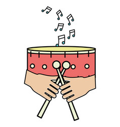 Music instrument cartoon vector