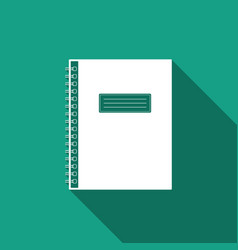 notebook icon isolated with long shadow vector image