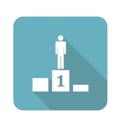 Pedestal icon square vector