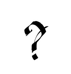 Question mark in gothic style alphabet vector
