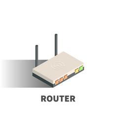 router icon symbol vector image