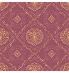 Seamless oriental wallpaper6 vector image