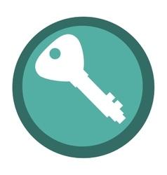 Security key icon vector