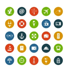 Set of flat design travel icons vector