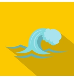 Small wave icon cartoon style vector image