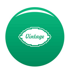 style label icon green vector image