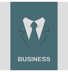 Suit with tie abstract isolated vector image