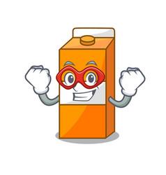 super hero package juice character cartoon vector image