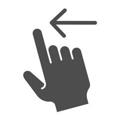 Swipe left solid icon flick left vector