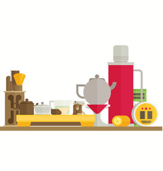 Tea ceremony flat vector