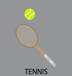 Tennis sport icon flat vector image