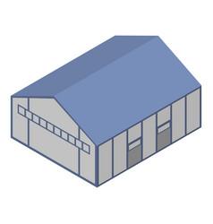Terminal hangar icon isometric style vector