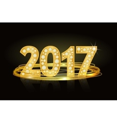 Text from diamonds 2017New Year Numbers number vector