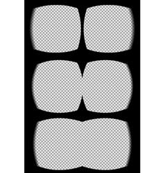 Three vr helmet overlays vector