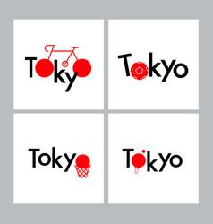 tokyo typography design sport concept sports vector image