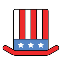 uncle sam hat united state independence day vector image