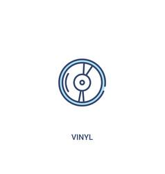 Vinyl concept 2 colored icon simple line element vector