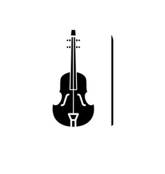 violin black icon sign on isolated vector image