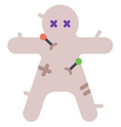 Voodoo doll flat vector