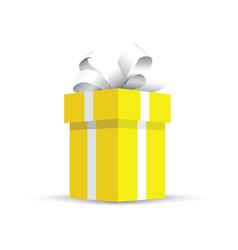 Yellow present gift vector
