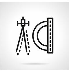 Geometry flat line icon vector image