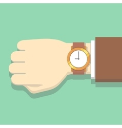 Picture of businessman in suit with watch vector image