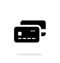 Bank credit cards icon on white background vector image