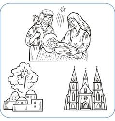 Biblical scene - vector image