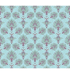 Blue Victorian seamless background vector image