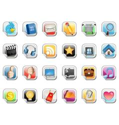 social media sticker icon vector image vector image