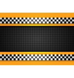 taxi cab background racing blank template vector image vector image