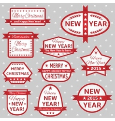 White labels with red frame vector image vector image