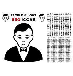 dealer icon with bonus vector image