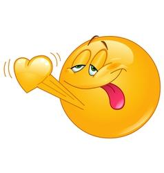 emoticon in love vector image vector image