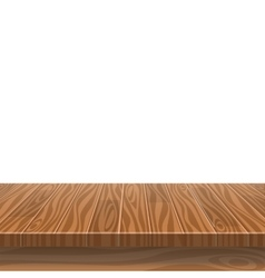 Empty wooden table in a sun drenched summer garden vector image