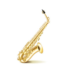 Saxophone isolated on white vector image vector image