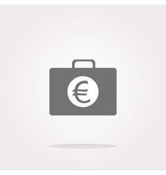 euro case button financial icon isolated vector image