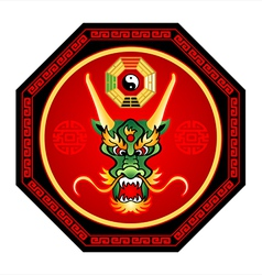 feng shui dragon vector image