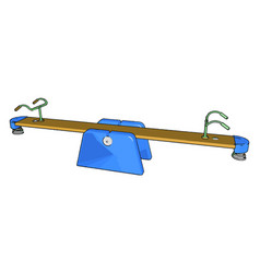 A seesaw toy or color vector